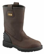 JCB TRACKPRO/T Safety Work Rigger Boots Trackpro Steel Toe Brown