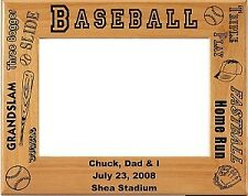 Personalized laser Engraved Baseball Picture Frame