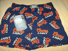 Coors Light Sleep shorts & can Koozie 2 pc. set mens