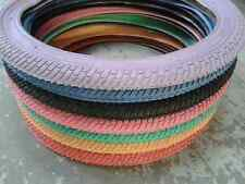 """BMX Bike Tyres (NEW) 20"""" x1.95 (SINGLE or PAIR) 9 colours FIT ANY 20"""" BMX"""