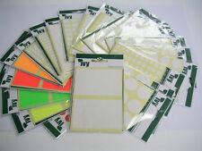 White Self Adhesive Sticky Address Labels Round Colourd