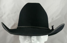 Rand's Custom Cowboy Hats: Black Cattleman Leather Lace