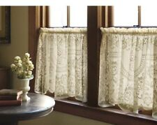"""Heritage Lace Victorian Rose Tier 60""""x30"""" - Colors: Ecru and White"""