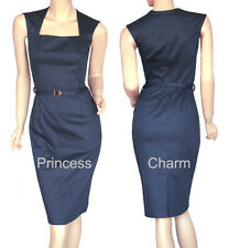 Cocktail Work Dress Blue Size 6 8 10 12 14 16 18 New