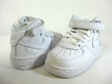 NEW NIKE FORCE 1 MID (TD) White/White -314197 113- TODDLERS ATHLETIC