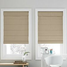 Linden Street COTTON THERMAL ROMAN SHADE Blind  64L NIP