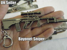 NOVELTY COLLECTORS BAYONET GUN RIFLE SNIPER MACHINE HANDGUN KEYRING KEYCHAIN UK