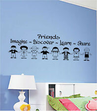 Friends Imagine Discover Share Learn Vinyl Wall Art Words Decals Stickers Custom