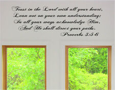 Trust in the Lord with all heart Proverbs 3:5-6Vinyl Wall Art Words Decal Decor