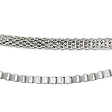 "Trendy Men Stainless Steel 20"" Box Chain or Mesh Chain Necklace"