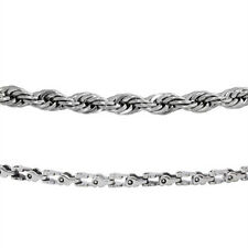 "Trendy Men Stainless Steel 21"" Rope Chain or 22"" Bike Chain Necklace"