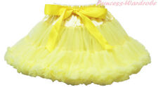 Hot Yellow FULL Pettiskirt Skirt Petti Party Dance Tutu Dress Child Girl 1-8Y