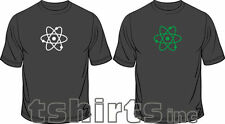 Atom Glow In The Dark Science Geek Funny Mens Loose Fit Cotton T-Shirt