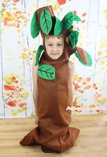 Funny Brown Green Tree Outfit Unisex Child Kids Cosplay Party Costume 2-7Y