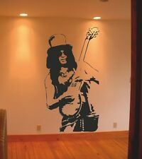 Slash Wall art Stickers Decal Famous Music Guns N' Roses Guitarist Guitar