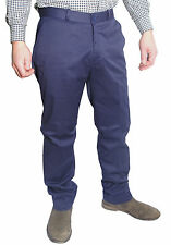 Mens Navy Blue Sta Prest Stay Pressed Retro MOD Trouser
