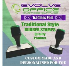 Personalised Ruber Stamp - Traditional Style - Lot of Sizes Available