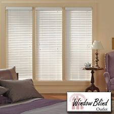 "Window Blind Outlet Premium Faux Wood Blinds 43 - 48""W x 61 - 89""L FREE Shipping"