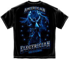 Electrician T-Shirt: American Electrician- Made In America C10 Journeryman Union