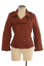 FAUX LEATHER WOMEN'S SPORT CASUAL MOTORCYCLE JACKET