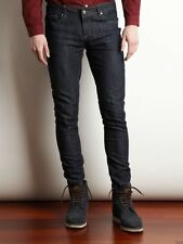 Mens Criminal Damage Skinny Fit Stretch Jeans All Sizes Punk Retro New Dark Blue