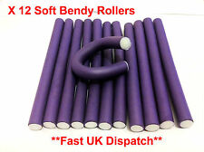 X 12 SOFT TWISTY Foam Hair Dressing Bendy Curly Rollers In 3 Different Sizes ***