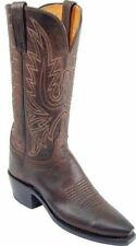 Women's 1883 By Lucchese Western Boots N4554 5/4 Chocolate Mad Dog Goat Leather