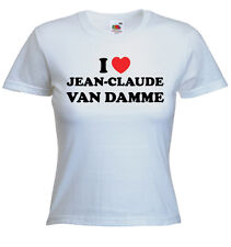 I Love Jean-Claude Van Damme T Shirt - Print Any Name