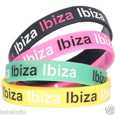 IBIZA PARTY HOLIDAY wristband silicone bracelet / wrist band bangle gift fashion