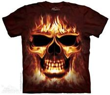 New SKULL FIRE T Shirt