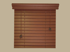 "2"" Fauxwood Window Blinds - 42"" X 36"" - Real Wood Look 4 Less - Free Shipping"