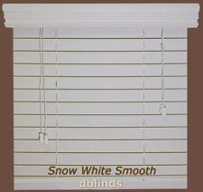 """2"""" Fauxwood Window Blinds - 10"""" X 72"""" - Real Wood Look 4 Less - Free Shipping"""
