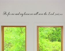 As for me and my house we will serve the lord Vinyl Wall Art Words Decals faith