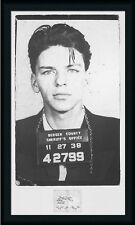 Frank Sinatra - Mugshot by Unknown/Anon Vintage Photography 20x35 Framed Art