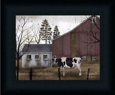Holstein Primitive by Billy Jacobs Folk Art Landscape Framed Art Print  8x10