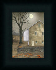 Autumn Moon Country Americana Stone House Framed Art Print Wall Décor 7x5