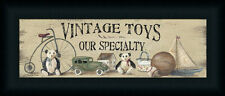 Vintage Toys by Pam Britton Country Sign Framed Art Print 18x6 Framed Art Print