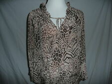 **REBECCA TAYLOR**NWT-PERFECT ANIMAL PRINT LEOPARD BLOUSE-RETAIL $275-SOLD OUT!