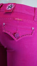 LA IDOL JEANS CRYSTAL BLING SKINNY PANTS IN ROSE BENGAL 1268-1NR