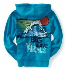 Aeropostale Big Wave Mens Blue Zip Up Sweatshirt Hoodie Jacket Sz L XL XXL 3XL