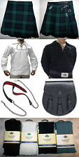 Great Gift: Mens 8 Yard Kilt Package Shirt Hose Sporran Belt Black Watch