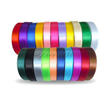 "1 Roll 25 Yards 5/8"" 15mm  Satin Ribbon Craft Bow Wedding Party Supply Colours"