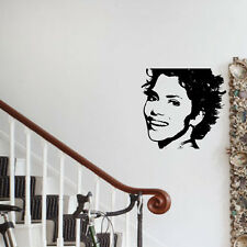 Halle Berry film star Hollywood celebrity actress Vinyl Wall art Sticker Decal