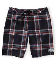 Aeropostale Aero Surf Plaid Mens Drawstring Waist Boardshorts Swim Trunks 32 33