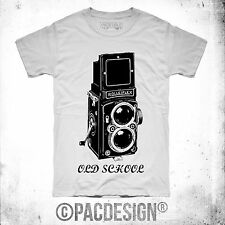 T-SHIRT REFLEX FOTO NIKON CANON VINTAGE OLD SCHOOL RICHARDSON WHY SO HAPPINESS