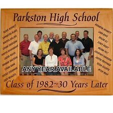 Personalized Wood Picture Frames Class Reunion Gifts Custom Party Favors Names