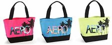 Aeropostale Aero Palm Tree Large Canvas Carry Swim Tote Bag Pink Blue or Yellow