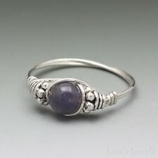 Iolite Bali Sterling Silver Wire Wrapped Bead Ring ANY size