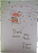 Wedding Thank you Cards - Love Birds Autumn personalised stationery for marriage
