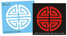 Asian STENCIL Longevity Symbol Chinese Long Life Easy Home Decor Wall Art Signs